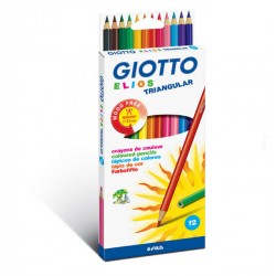 Crayons de couleurs Giotto Elios triangular - 12 crayons