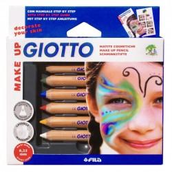 Crayon maquillage pour enfants GIOTTO ( boîte de 6 )
