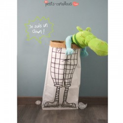 Sac en papier kraft clown