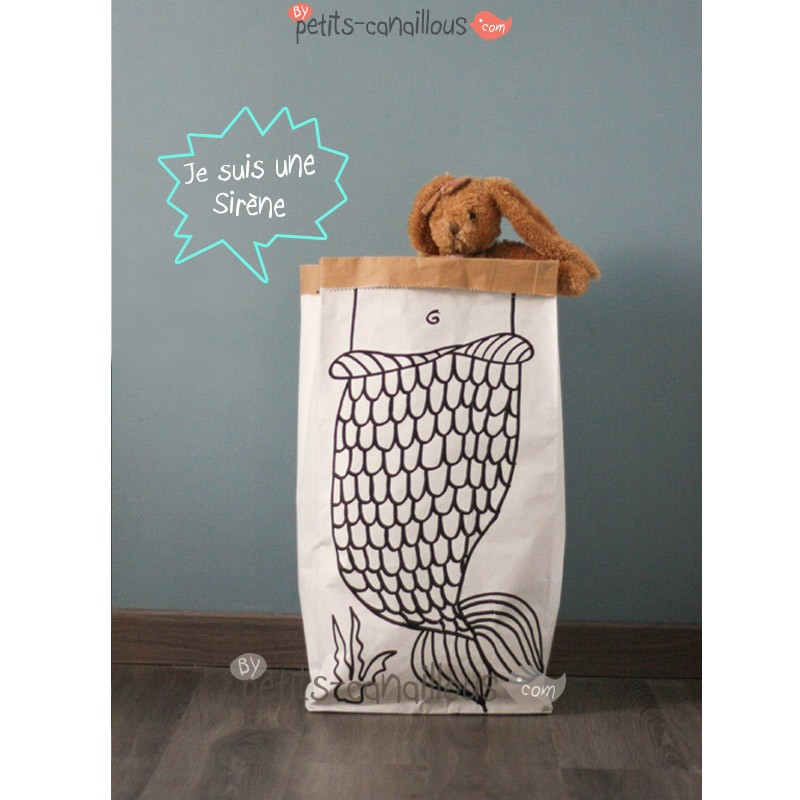 sac en papier kraft recycl sert de rangement et d coration. Black Bedroom Furniture Sets. Home Design Ideas