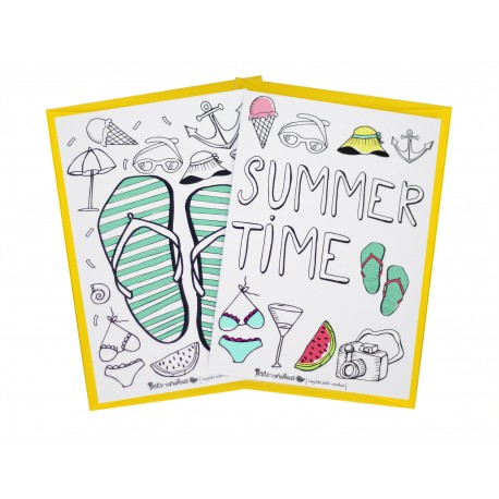 Lot de 2 cartes postales collection summer time.
