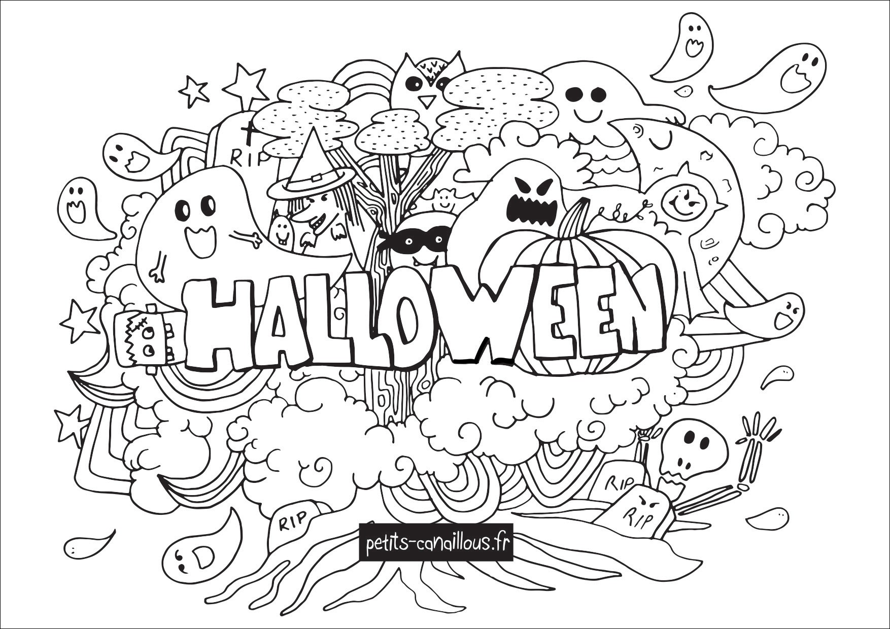 coloriage halloween tlcharger