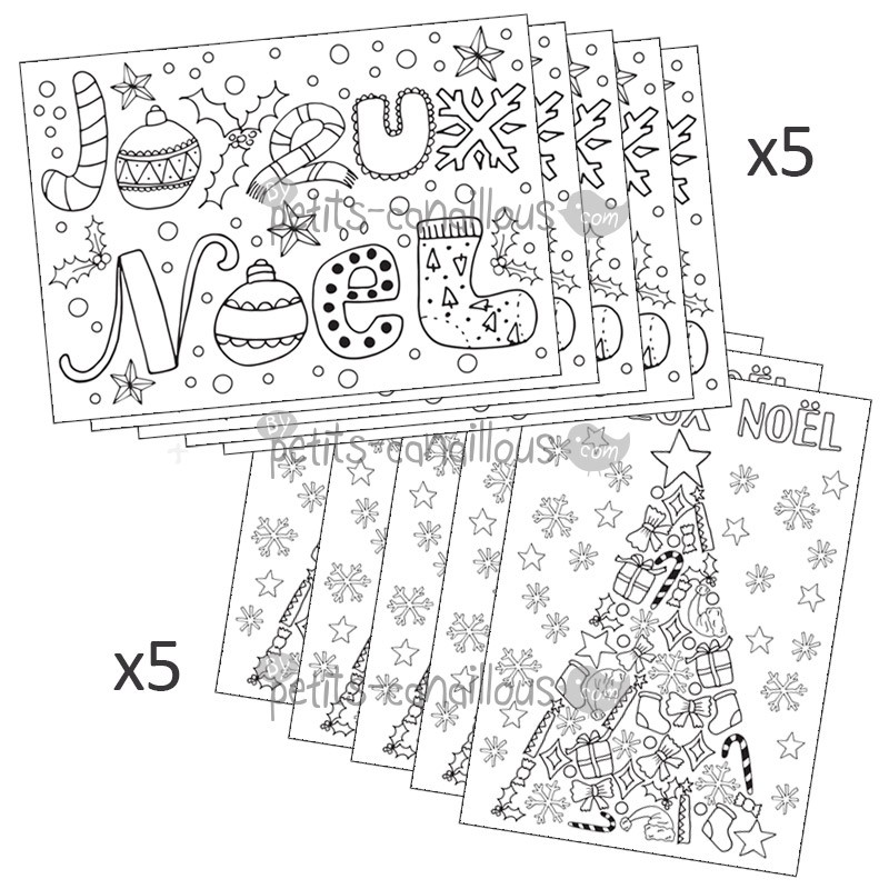 Lot cartes no l christmas card - Dessin carte de noel ...