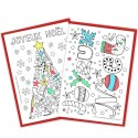 Lot de 10 cartes à colorier - Joyeux Noël