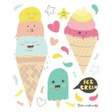 Planche stickers ice cream