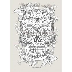 Affiche Tête de Mort Mexicaine