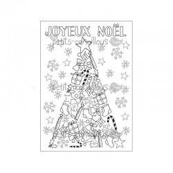 Carte à colorier - Sapin de Noël
