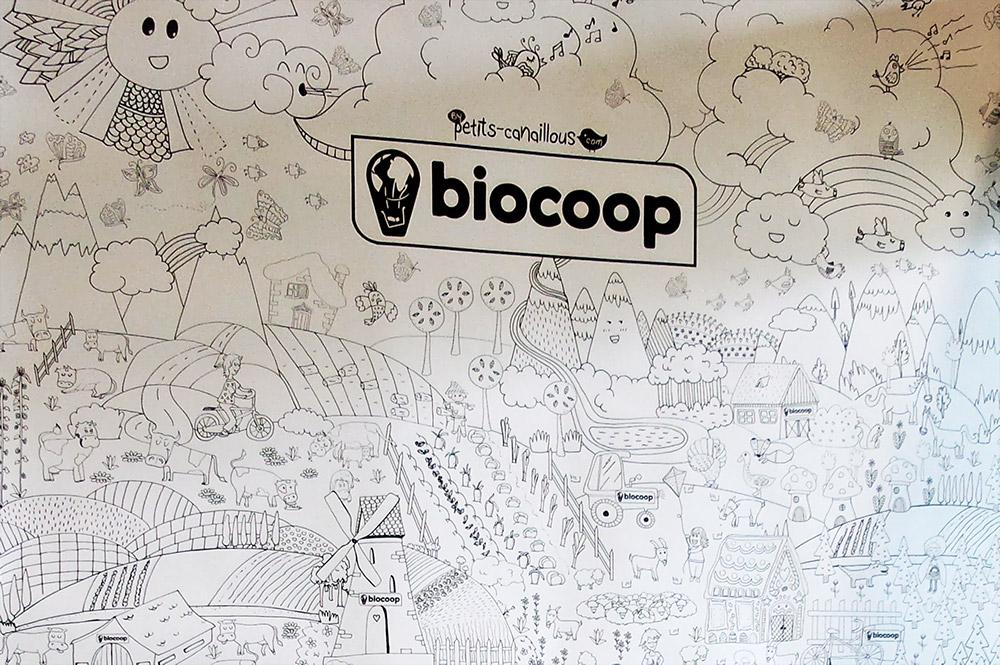 Evénement mur de coloriage géant agriculture Biocoop au salon de l'agriculture 2015. coloring wall