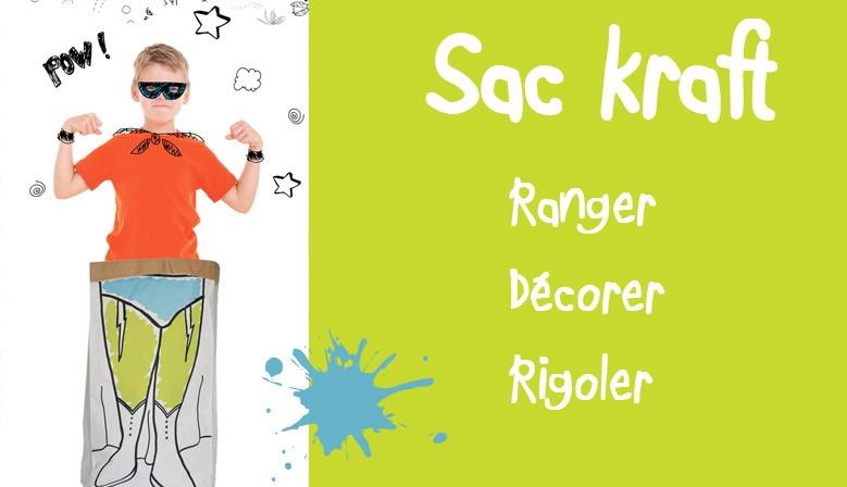 sac kraft - rangement - paperbag