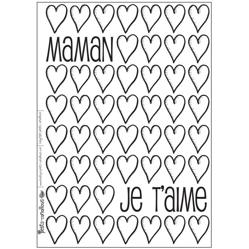 37 carte a colorier maman je t aime